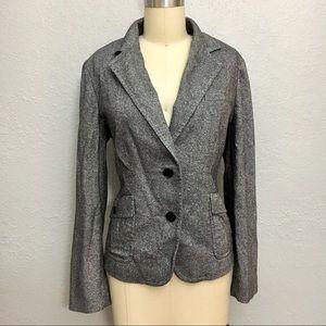 Talbots tweed wool blend career blazer jacket